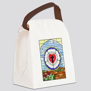 Luther Seal Stained Glass Window Canvas Lunch Bag