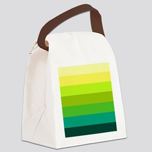 'Green Stripes' Canvas Lunch Bag