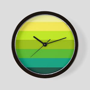 'Green Stripes' Wall Clock