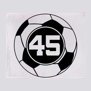 Soccer Number 45 Player Throw Blanket