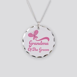 Grandma of the Groom Butterfly Necklace Circle Cha