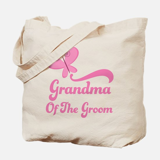 Grandma of the Groom Butterfly Tote Bag