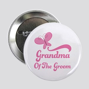 """Grandma of the Groom Butterfly 2.25"""" Button"""