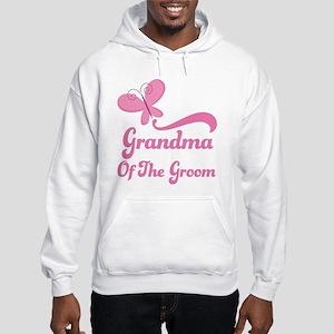 Grandma of the Groom Butterfly Hooded Sweatshirt