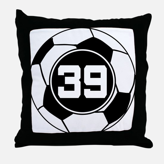 Soccer Number 39 Player Throw Pillow