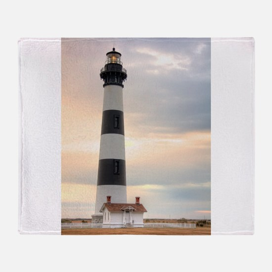 Lighthouse 02 Throw Blanket