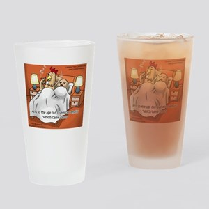 Chicken In Afterglow Drinking Glass