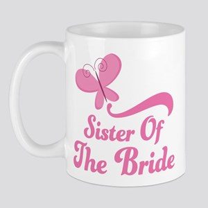 Sister of the Bride Butterfly Mug