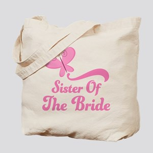 Sister of the Bride Butterfly Tote Bag