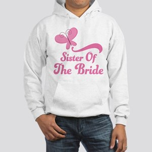 Sister of the Bride Butterfly Hooded Sweatshirt