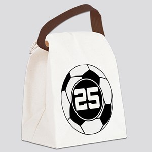 Soccer Number 25 Player Canvas Lunch Bag