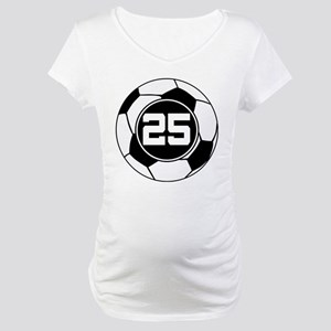 Soccer Number 25 Player Maternity T-Shirt