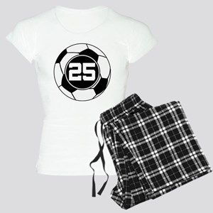 Soccer Number 25 Player Women's Light Pajamas