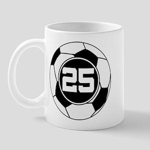 Soccer Number 25 Player Mug