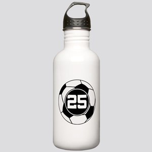 Soccer Number 25 Player Stainless Water Bottle 1.0