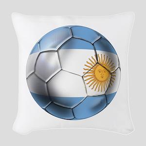 Argentina Football Woven Throw Pillow