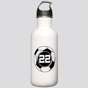 Soccer Number 22 Player Stainless Water Bottle 1.0