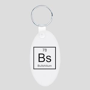 Bs Bullshitium Element Aluminum Oval Keychain