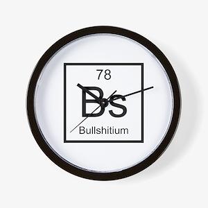 Bs Bullshitium Element Wall Clock