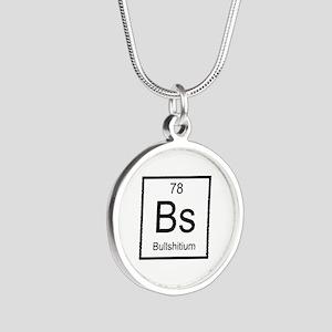 Bs Bullshitium Element Silver Round Necklace