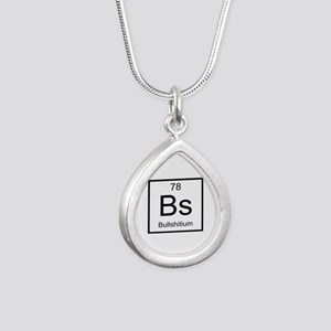 Bs Bullshitium Element Silver Teardrop Necklace