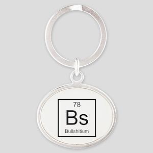 Bs Bullshitium Element Oval Keychain