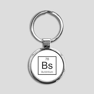 Bs Bullshitium Element Round Keychain