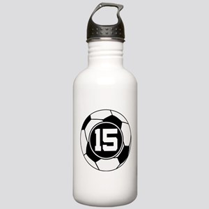 Soccer Number 15 Player Stainless Water Bottle 1.0