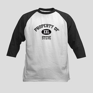 Property of Steve Kids Baseball Jersey