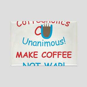 CU Coffee Not War Rectangle Magnet
