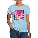 Honey Bee on Pink Wildflower Women's Light T-Shirt