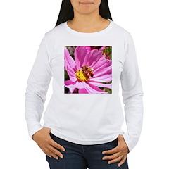 Honey Bee on Pink Wildflower T-Shirt