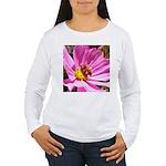 Honey Bee on Pink Wildflower Women's Long Sleeve T