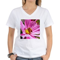 Honey Bee on Pink Wildflower Shirt