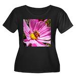Honey Bee on Pink Wildflower Women's Plus Size Sco