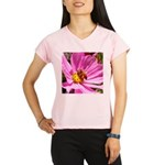 Honey Bee on Pink Wildflower Performance Dry T-Shi