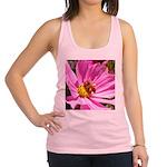Honey Bee on Pink Wildflower Racerback Tank Top