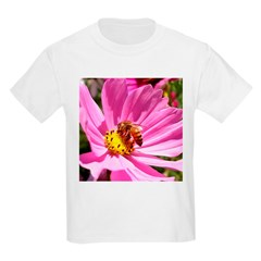 Honey Bee on Pink Wildflower T-Shirt