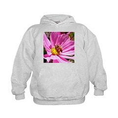 Honey Bee on Pink Wildflower Hoodie