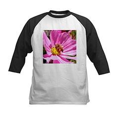 Honey Bee on Pink Wildflower Kids Baseball Jersey