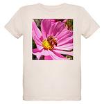 Honey Bee on Pink Wildflower Organic Kids T-Shirt