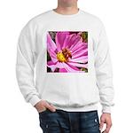 Honey Bee on Pink Wildflower Sweatshirt