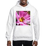 Honey Bee on Pink Wildflower Hooded Sweatshirt
