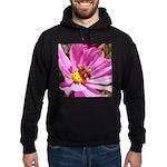 Honey Bee on Pink Wildflower Hoodie (dark)