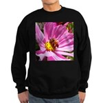 Honey Bee on Pink Wildflower Sweatshirt (dark)