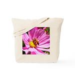 Honey Bee on Pink Wildflower Tote Bag