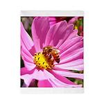 Honey Bee on Pink Wildflower Twin Duvet