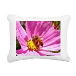 Honey Bee on Pink Wildflower Rectangular Canvas Pi