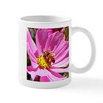 Honey Bee on Pink Wildflower Mug