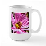 Honey Bee on Pink Wildflower Large Mug